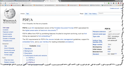 A wiki page