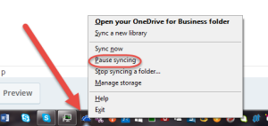 pause syncing