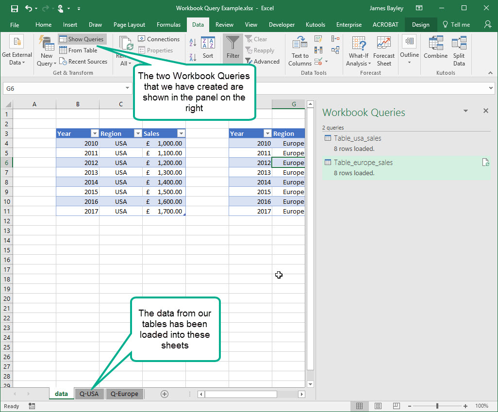 Create the Union of two tables in Excel revisited   Dr James